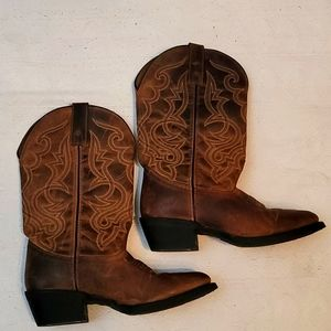 Laredo western boots brown 100% leather upper